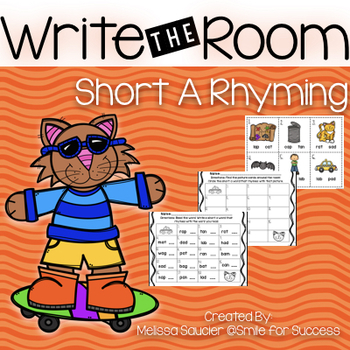 Short A Rhyming Write the Room