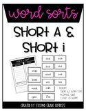Short A & Short I Differentiated Word Sort