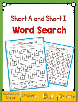 Short A & Short I Word Search