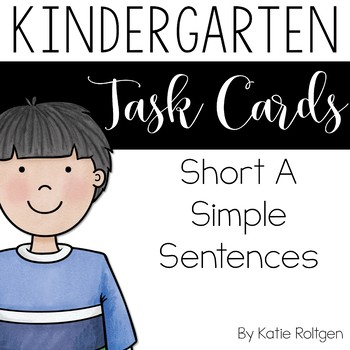 Short A Simple Sentences Task Cards
