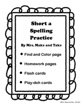 Short A Spelling Practice
