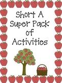 Short A Super Pack of Activities
