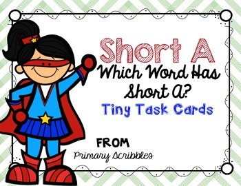 Short A Tiny Task Cards