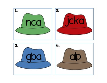 Short A Unscramble the Hats
