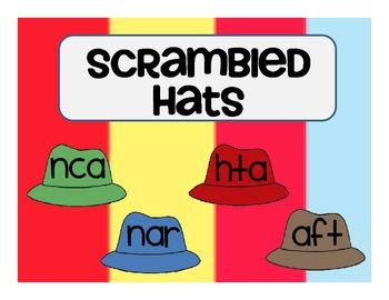 Short A Unscramble the Hats
