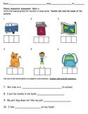 Short A Vowel Assessment