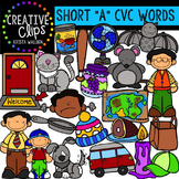 Short Vowel Clipart CVC Words- Short A Clipart {Creative C