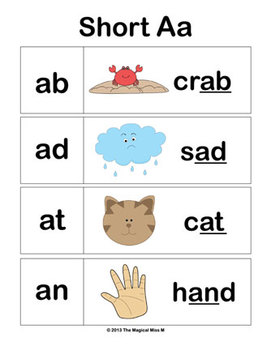Short A Vowel Word Work: Zack and Mr. Snack Attack! (Common Core Aligned)