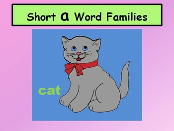 Short A Word Families 1 (No Animation)