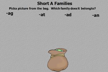Short A Word Families Flipchart