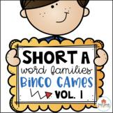 Short A Word Families Bingo Games Vol. 1