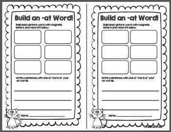 Short A Word Families {Center Games & Activities}