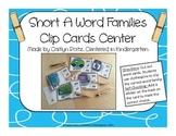 Short A Word Families Clip Card Center