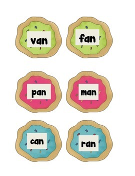 Short A Word Families Cookie Sort