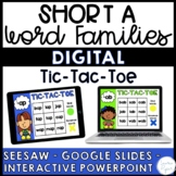 Short A Word Families Digital Activities {Seesaw, Google Slides}