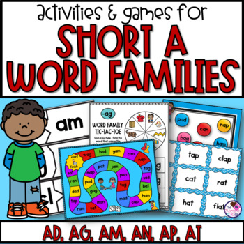 Word Families Short A Games and Activities