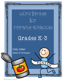 Word Families: Short Vowel Activities for Interactive Notebooks