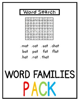 Short A Word Families (NO PREP) (GROWING BUNDLE)