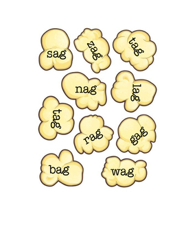 Short A Word Families Read and Sort Popcorn Activity