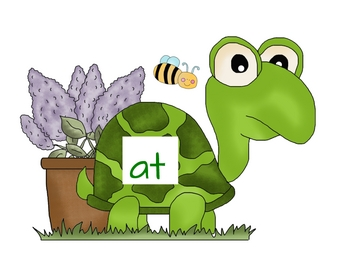 Short A Word Families - Turtles and flowers