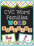 CVC Word Families Word Building Pack {Short Vowels A, E, I, O & U}