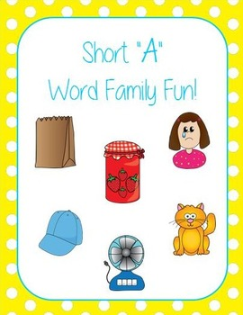 """Short """"A"""" Word Families Word Work and Games"""