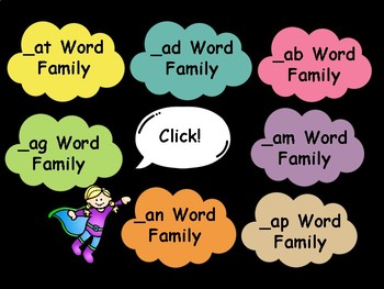 Short A Word Families Words