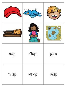 Short A Word Families for Kindergarten and First Grade