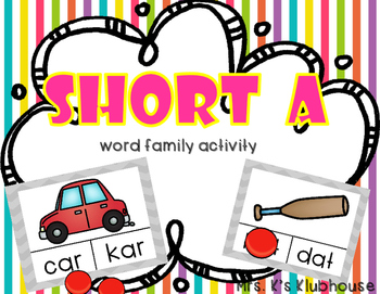 Short A Word Family Activity