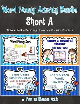 Short A Word Family Activity Bundle