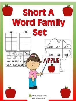 Short A Word Family Activity Set