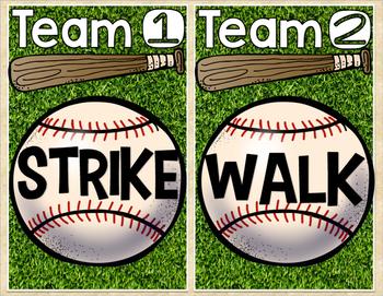 Short A Word Family Baseball