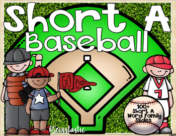 Short A Word Family Baseball