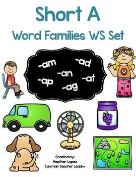 Short A Word Family CVC worksheet set