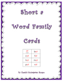 Short A Word Family Practice Cards