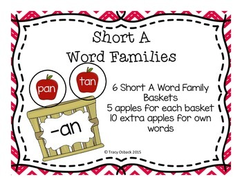 Short A CVC Word Family Center