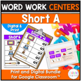 Short A Word Work Activities | Distance Learning