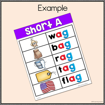 Short A Word Family Center Activities SAMPLE