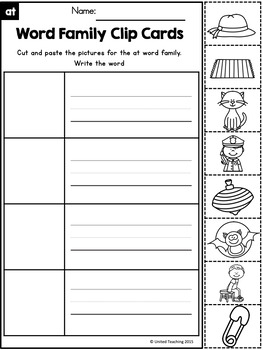 Short A CVC Word Family Clip Cards