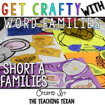 Short A Word Family Crafts