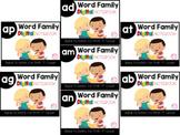 Short A Word Family Digital Notebook (AN, AP, AD, AT, AG, AM, AB)