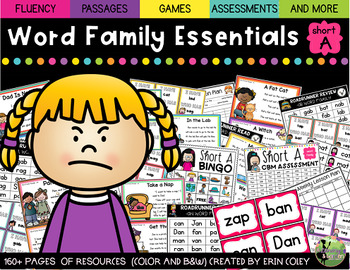 Short A Word Family Fluency Essentials: Intervention and Small Group Resources
