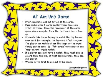 Short A Word Family Games