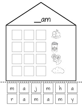 "Short ""A"" Word Family Houses"