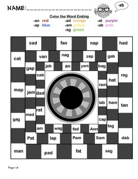 Short A Word Family Phonics Worksheet Packet