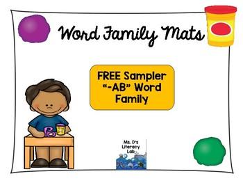 Short A Word Family Play Doh Mat Sampler