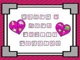 Short A Word Family Puzzles - heart shape