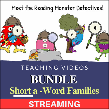 Short A - Word Family Streaming Teaching Videos & Workbooks (Monster Detectives)