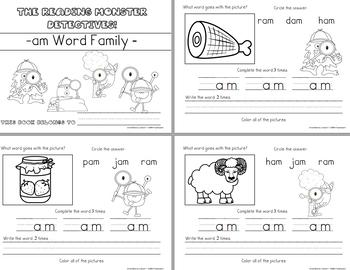 Short A - Word Family Videos & Workbooks BUNDLE (Monster Detectives)
