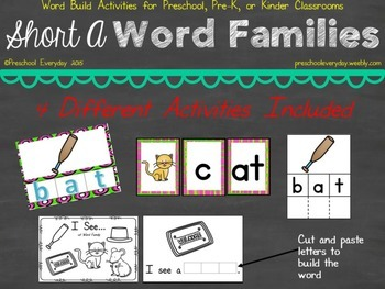 Short A Word Family Word Build Pack